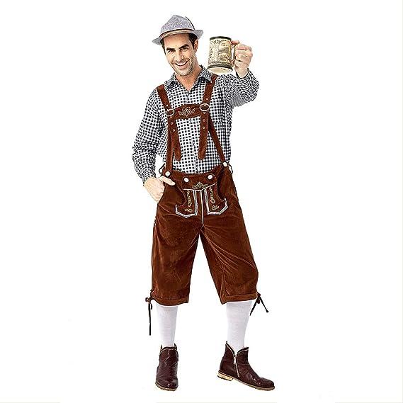 Cosplaypark Lederhosen - Pantalón bávaro Oktoberfest para ...