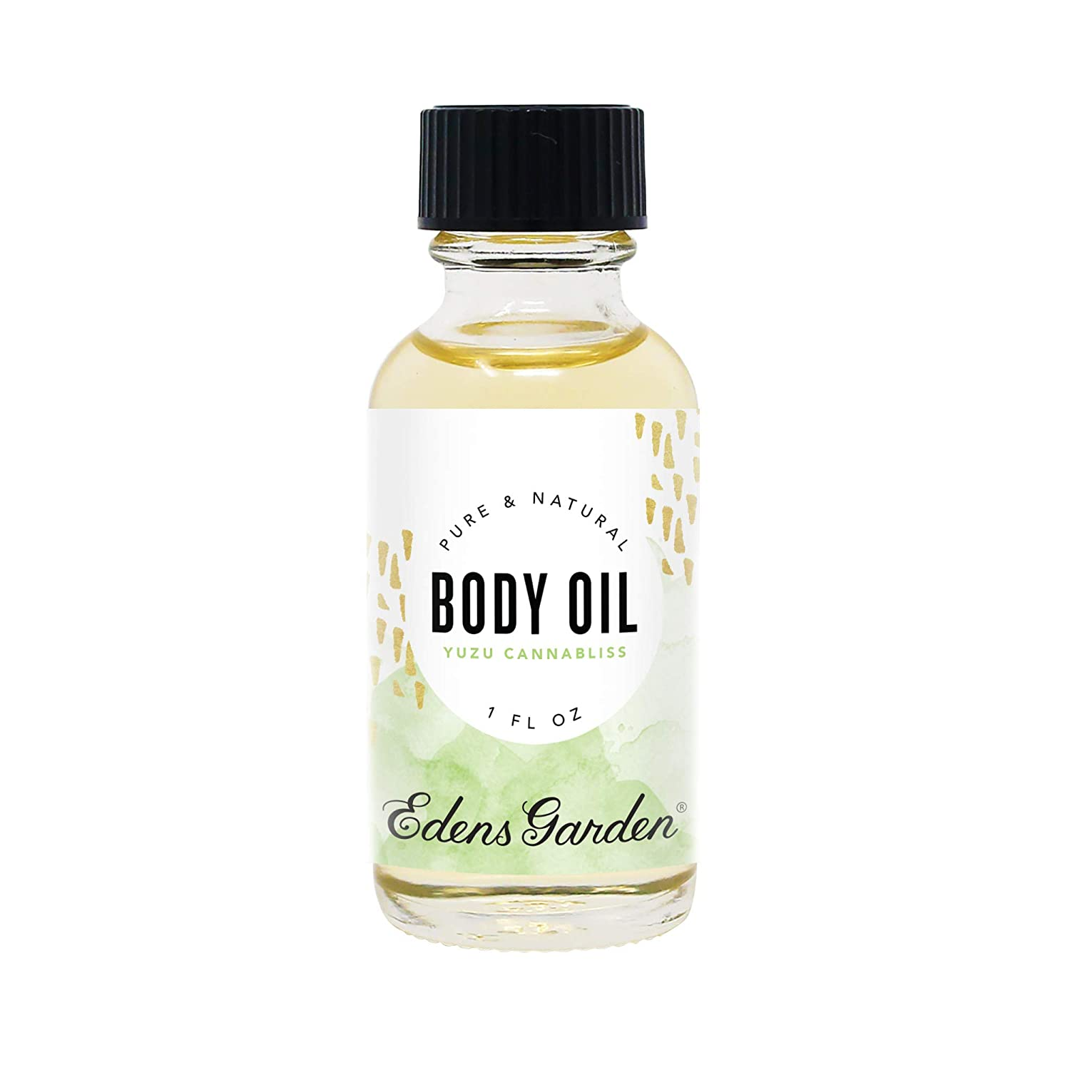 Edens Garden Yuzu Cannabliss Aromatherapy Body Oil (Made With Pure Essential Oils & Vitamin E- Inflammation & Pain), 1 oz