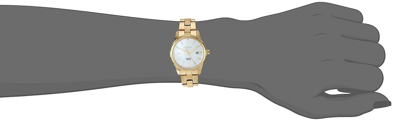 Amazon.com: Citizen Womens Quartz Stainless Steel Casual Watch, Color:Gold-Toned (Model: EU6072-56D): Watches
