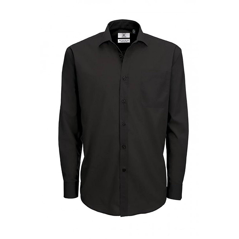 B& C - Camicia Manica Lunga in Popeline - Uomo