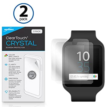 Sony SmartWatch 3 SWR50 protection décran, BoxWave® [ClearTouch Cristal (2