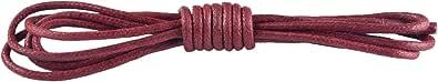Knixmax-Cordones Redondos y Encerados para Zapatos, para Zapatos de Negocios o de piel, Zapatos Casuales y de Moda, Zapatos de Vestir, Zapatillas, Nylon y Poliéster, 1 par, 7 Colores, 80cm