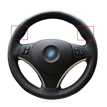 Amazoncom Black Genuine Leather Steering Wheel Cover For Bmw 128 I