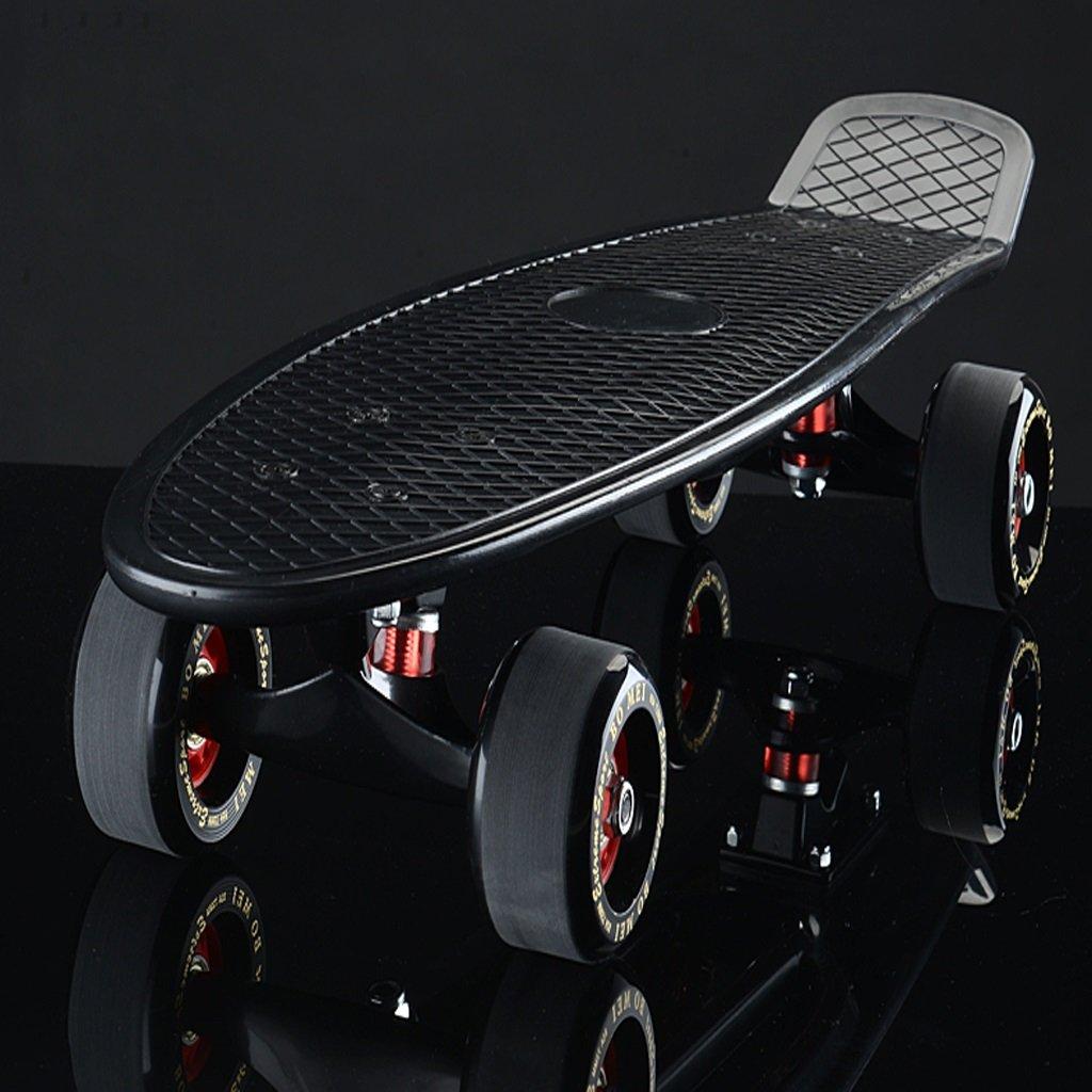 YONGLIANG アウトドアスポーツビッグフィッシュボードバナナボードシングルアップトゥスケートボードロードブラシストリートラージホイールスケートボードチャイルドアダルトスクータースクーター B07BQT59H7 黒 B07BQT59H7 黒 YONGLIANG 黒, ポップアップカード屋さん:9d80ad44 --- integralved.hu