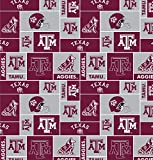 College University of Texas A&M Aggies 012 Print Fleece Fabric By the Yard