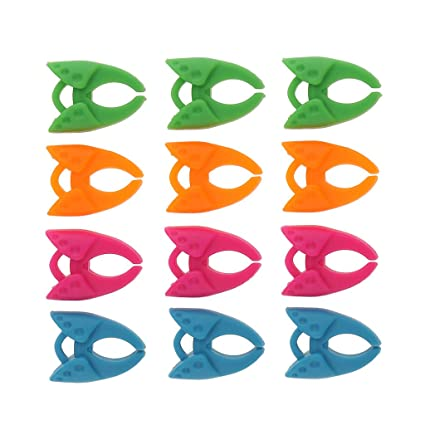 24pcs Assorted Silicone Bobbins Holder Clips Silicone Clamps Sewing Tools