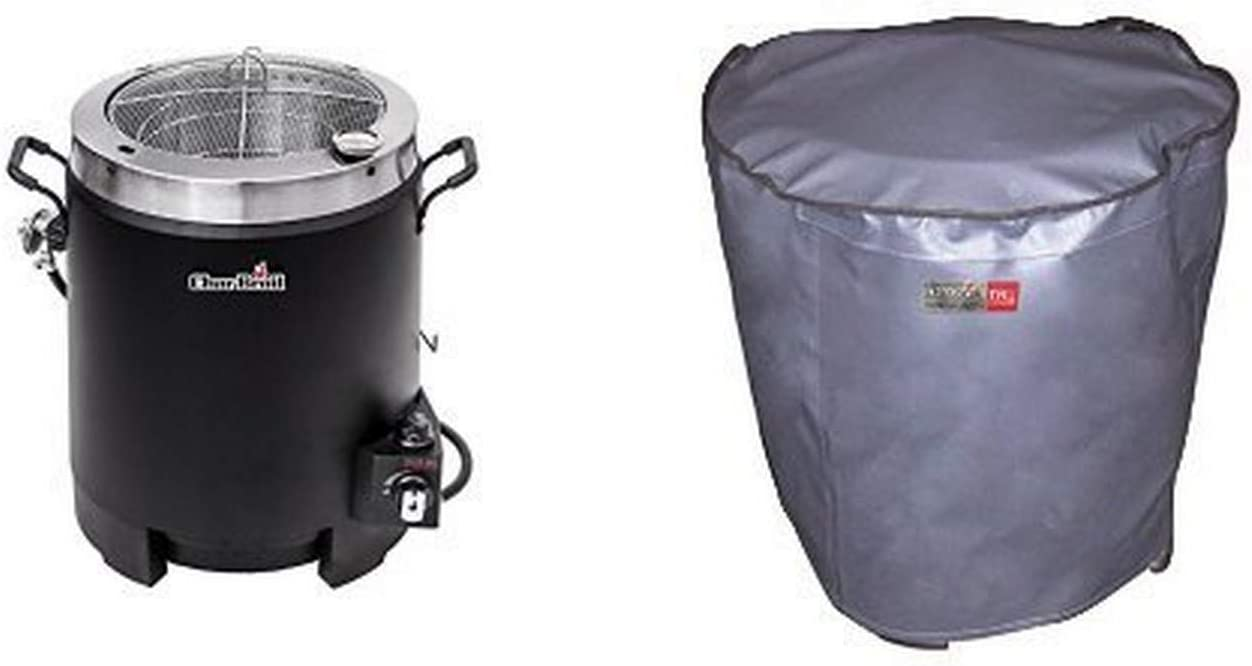 Char-Broil Big Easy Oil-less Turkey Fryer with Char-Broil The Big Easy Turkey Fryer Cover - Grey