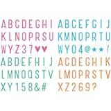 Cinema Sign, Makone 96 PCs Extra Colored Letter & Symbols for A4 / A5 Cinematic Light box