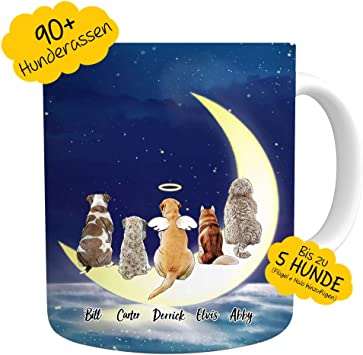 VEELU Personalisierte Tasse Hunde Foto Kaffeetasse
