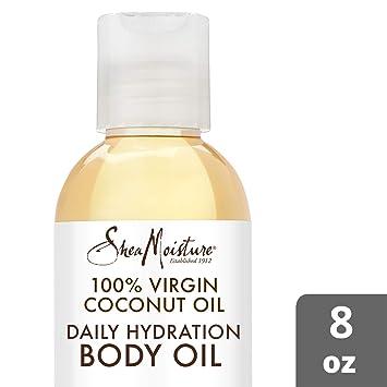 Shea Moisture 100% Virgin Coconut Body Oil for Unisex, Daily Hydration, 8  Ounce