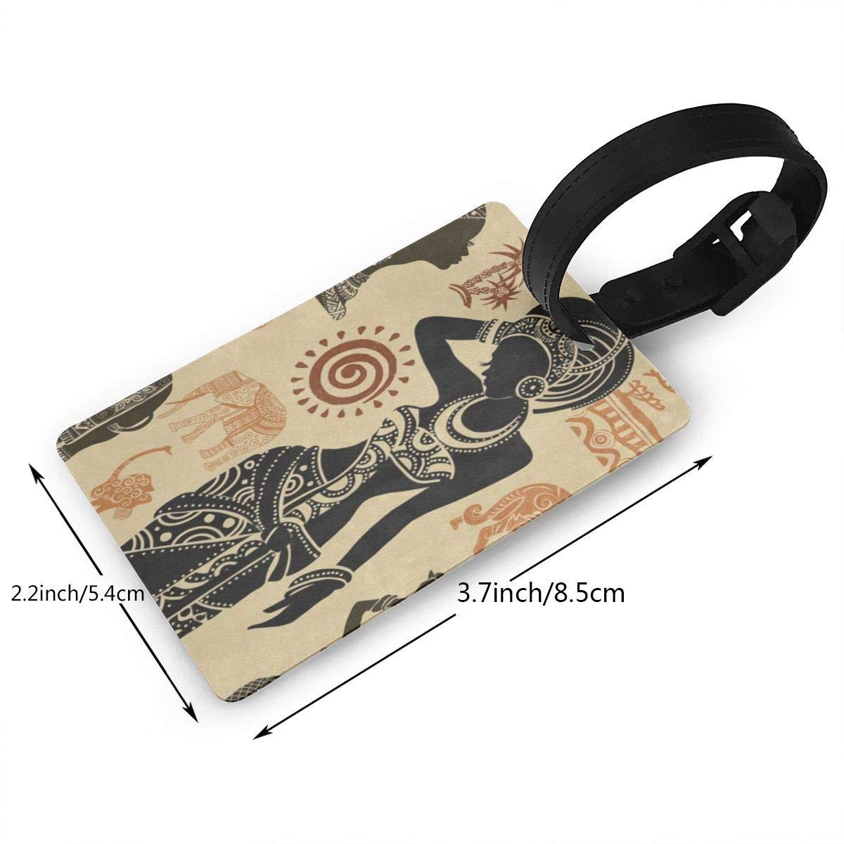 Luggage Tags African Women Mandala Bag Tag for Travel 2 PCS
