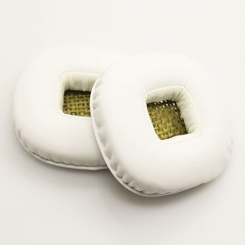 DishyKooker - Almohadillas de repuesto para auriculares Mar-shall Major 1 2 blanco blanco