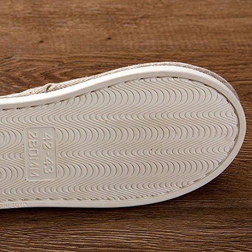 Spring Zapatillas 42 Al Zapatillas Antideslizantes Ma Color de 43 de Resistentes Tela Liso de Zapatillas Ma C 42 Desgaste 43 C Casa dHx4xFw