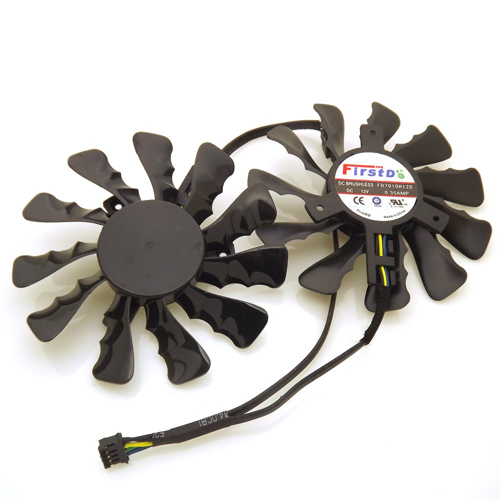 Replacement Video Card Cooling Fan For HIS HD7950 HD7970 R9-280X R9-290 R9-390 Graphics Card Cooling Fan FD7010H12D DC 12V 0.35A 86mm 4 Pin