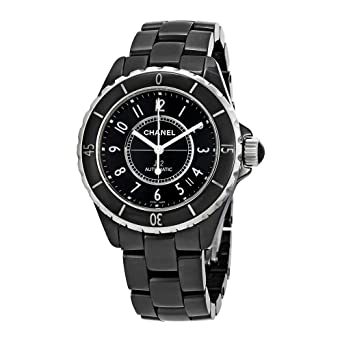 25e94e3e1f9 Amazon.com  Chanel J12 Black Ceramic Automatic Midsize Unisex Watch ...