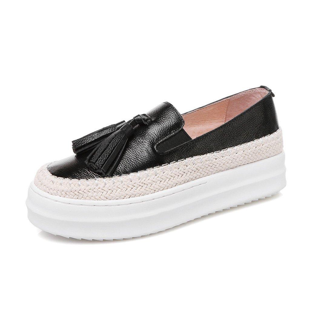RoseG Mujer Zapatos Plataforma Franja Negro Size38: Amazon.es: Zapatos y complementos