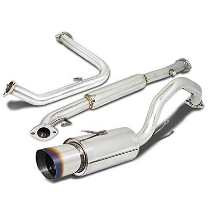 amazon com: for mitsubishi eclipse catback exhaust system 4 5 inches burn  tip muffler - 3 gen st-22: automotive