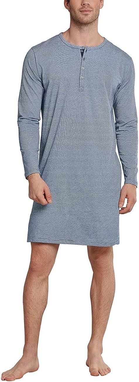 Schiesser Herren Nachthemd Lang Pyjamaoberteil