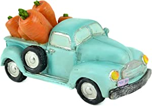 Turquoise Vintage Spring Truck with Carrots - Spring Decor - Easter Decor - Table Top Decor - Vintage Truck for Spring