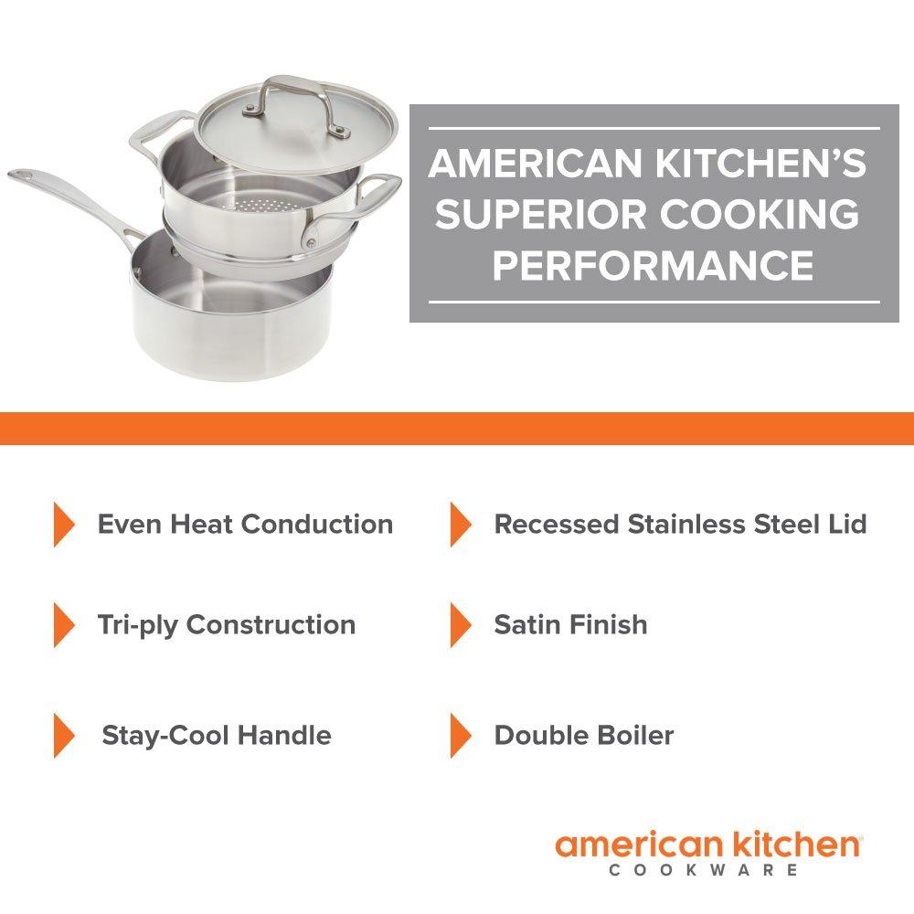 Amazon.com: American Kitchen - 2-quart Premium Stainless Steel ...