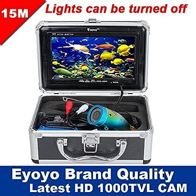 "Eyoyo Original 15m Professional Fish Finder Underwater Fishing Video Camera 7"" Color HD Monitor 1000TVL HD CAM Lights Control"