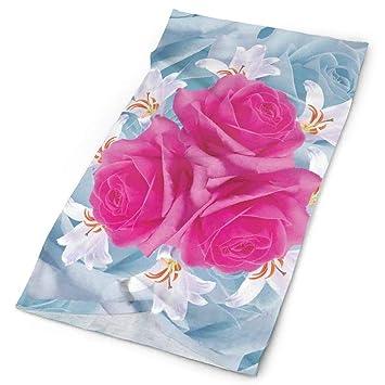 Headwear Headband Colored Flowers Head Scarf Wrap Sweatband Sport Headscarves For Men Women