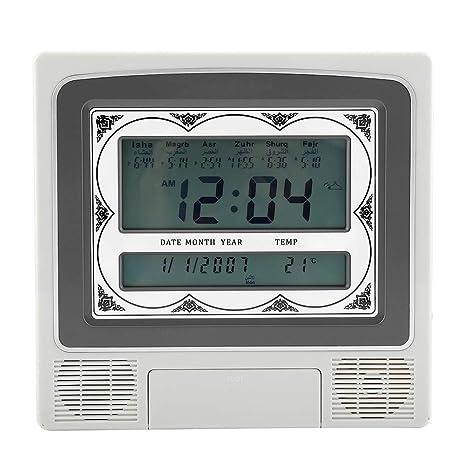 Reloj De Alarma Musulmán Digital De Oración Musulmana De Oración LCD Automático Montado En La Pared