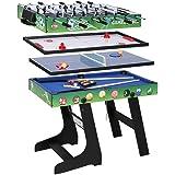 WIN.MAX Mesa de multijuegos 5 en 1, Canasta, Billar, ajedrez, Tenis de Mesa, Mesa de Hockey de Aire tamaño de la Competencia MDF Construcción Juego Divertido Trabajo Pesado: Amazon.es: Juguetes y juegos