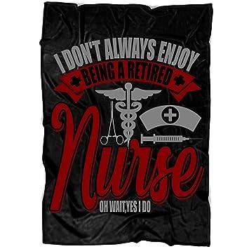 Amazon.com: OAKSTORE Being A Retired Nurse Soft Fleece Throw ...
