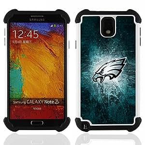 - Philadelphia Eagle Football/ H??brido 3in1 Deluxe Impreso duro Soft Alto Impacto caja de la armadura Defender - SHIMIN CAO - For Samsung Galaxy Note3 N9000 N9008V N9009