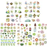 5 PCS Lively Plants DIY Photo Album Diary Luggage Book Phone Stickers