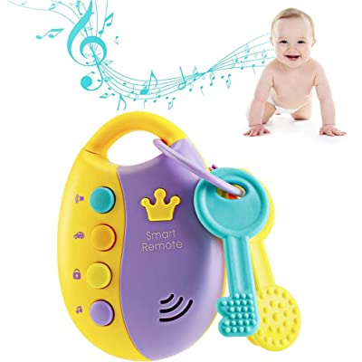 BESTCZ Educational Toys,Cartoon Baby Kids Musical Smart Remote Car Key Toy Car Voices Pretend Play Toys Funky Toy with Light and Sounds: Home & Kitchen