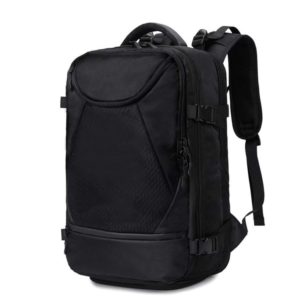 G&L クラシックノートパソコンバックパック 旅行 ハイキング キャンプ デイバック レディース メンズ 防水 大型 大学 学校 ブックバッグ 15.6インチノートパソコンとノートブックに対応  ブラック B07NXXDBXX