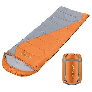 3-4 Season Portable Outdoor Hiking Camping Single Envelope Sleeping Bag 2.2M Zip