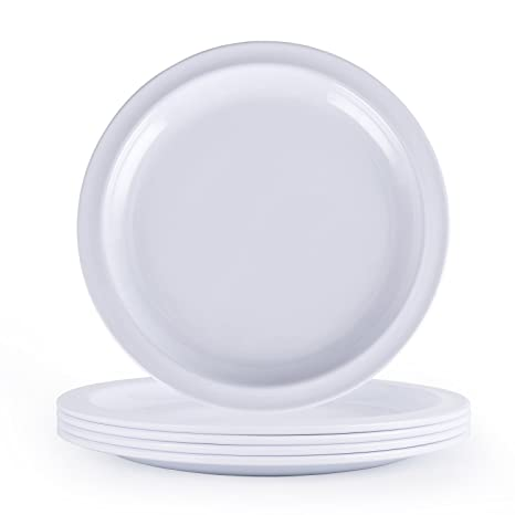 Melamine Dinner Plates Set -10Inch Everyday Use Dinner Dishes Set White Set of  sc 1 st  Amazon.com & Amazon.com: Melamine Dinner Plates Set -10Inch Everyday Use Dinner ...