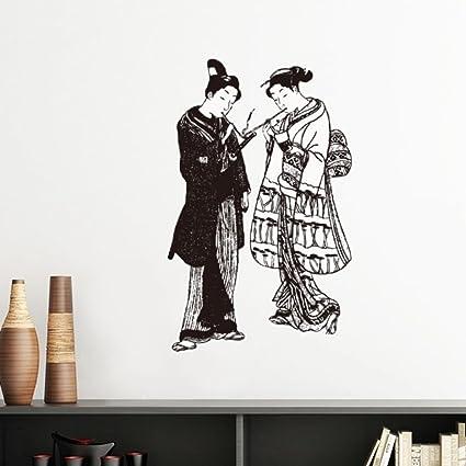 Diythinker Ilustracion Japon Tradicional Cultura Negro Kimono