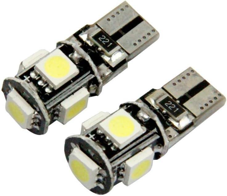 Quaanti AUTO car lights automobiles 10 X Canbus Error Free White T10 5-SMD 5050 W5W 194 16 Interior LED bulbs DC12V car styling black