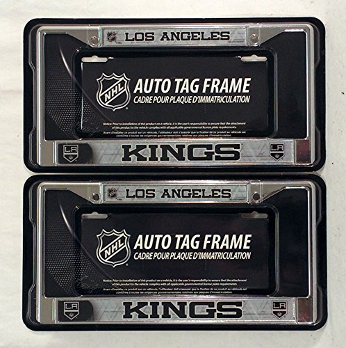 Rico (DEAD) Los Angeles Kings NHL Chrome Metal (2) License Plate Frame Set