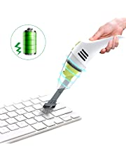 Keyboard Cleaner, MECO Rechargeable Vacuum Cleaner Small Wet Dry Desk Handheld Vacuum Laptop Cleaner Car Vacuum Cleaner for Cleaning Dust, Hairs, Crumbs, Scraps for Kitchen, Piano, Car and Pet House