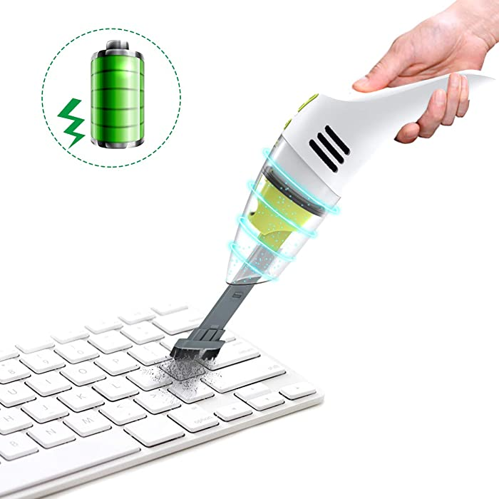 MECO Keyboard Cleaner, Rechargeable Mini Vacuum Wet Dry Cordless Desk Vacuum Cleaner, Best Cleaner for Cleaning Dust,Hairs,Crumbs,Scraps for Laptop,Piano,Computer,Car and Pet House