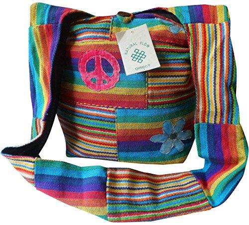 NATURAL FLOW - Bolso al hombro para mujer multicolor morado Large