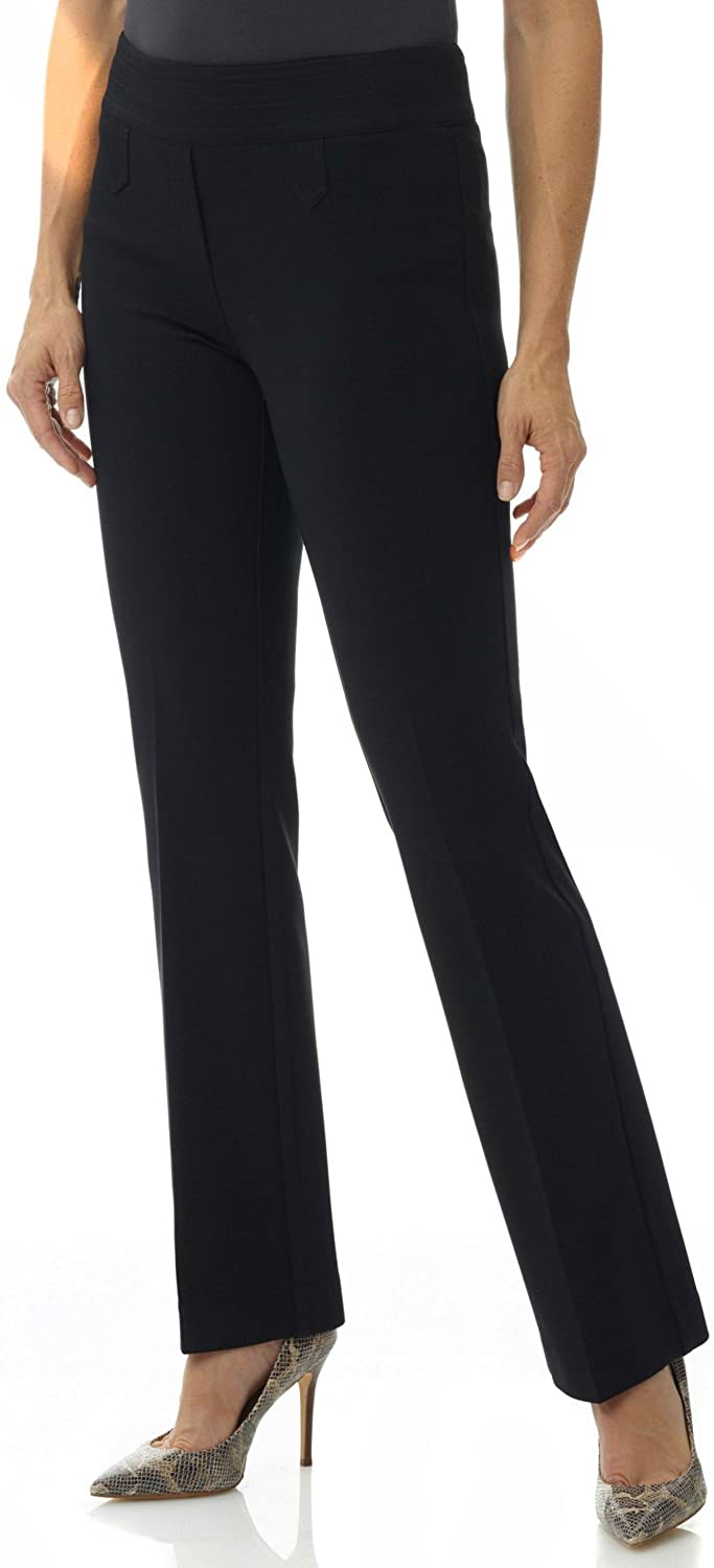 Rekucci Women's Secret Figure Pull-On Knit Bootcut Pant w/Tummy Control at  Women's Clothing store