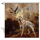 CafePress - duck hunter hunting dog Shower Curtain - Decorative Fabric Shower Curtain