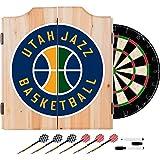 Trademark Gameroom NBA Utah Jazz Wood Dart Cabinet Set