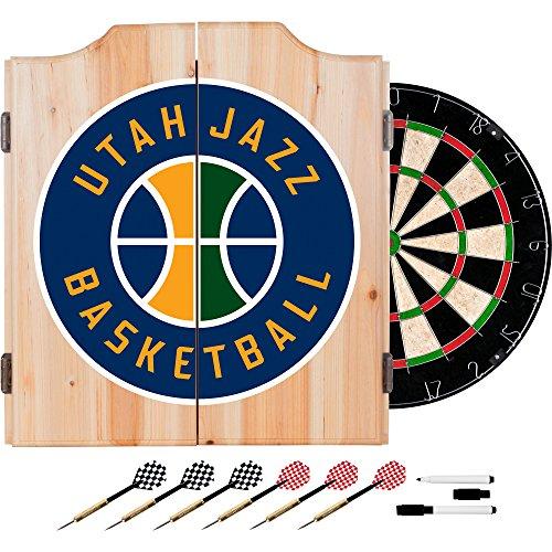 NBA Utah Jazz Wood Dart Cabinet Set