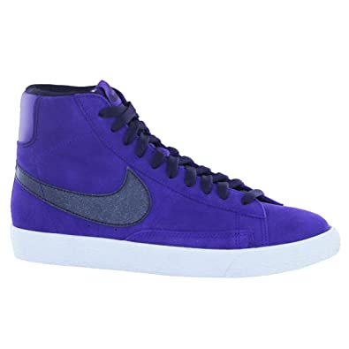 first rate 47fb7 39094 nike blazer mid vintage (GS) womens youths trainers 539930 502 sneakers hi  tops electric