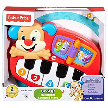 19adb10c6 Fisher-Price Puppy's Piano Instrumento Musical de Juguete Piano - Juguetes  Musicales (Instrumento Musical