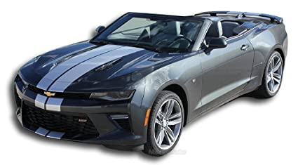 TURBO RALLY CONVERTIBLE SS : 2016 2017 2018 Chevy Camaro Rally Hood Trunk Spoiler Racing Stripes