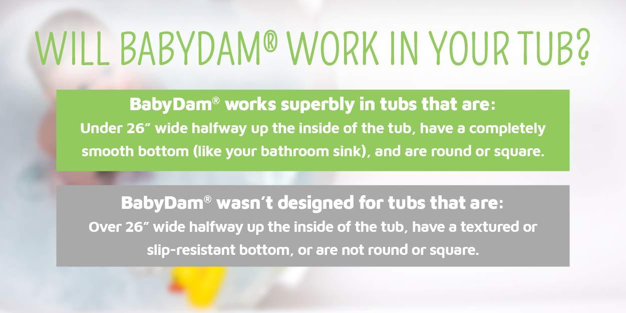 BabyDam Bathwater Barrier, Converts a Standard Non-Textured Bathtub to a Baby Bathtub by Baby Dam (Image #2)