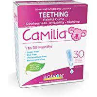Boiron Camilia Baby Teething Relief Medicine, 30 unit-doses (1 ml each). Camilia relieves pain, restlessness…